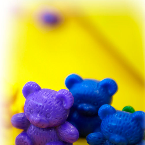 Picture of colourful toy bears
