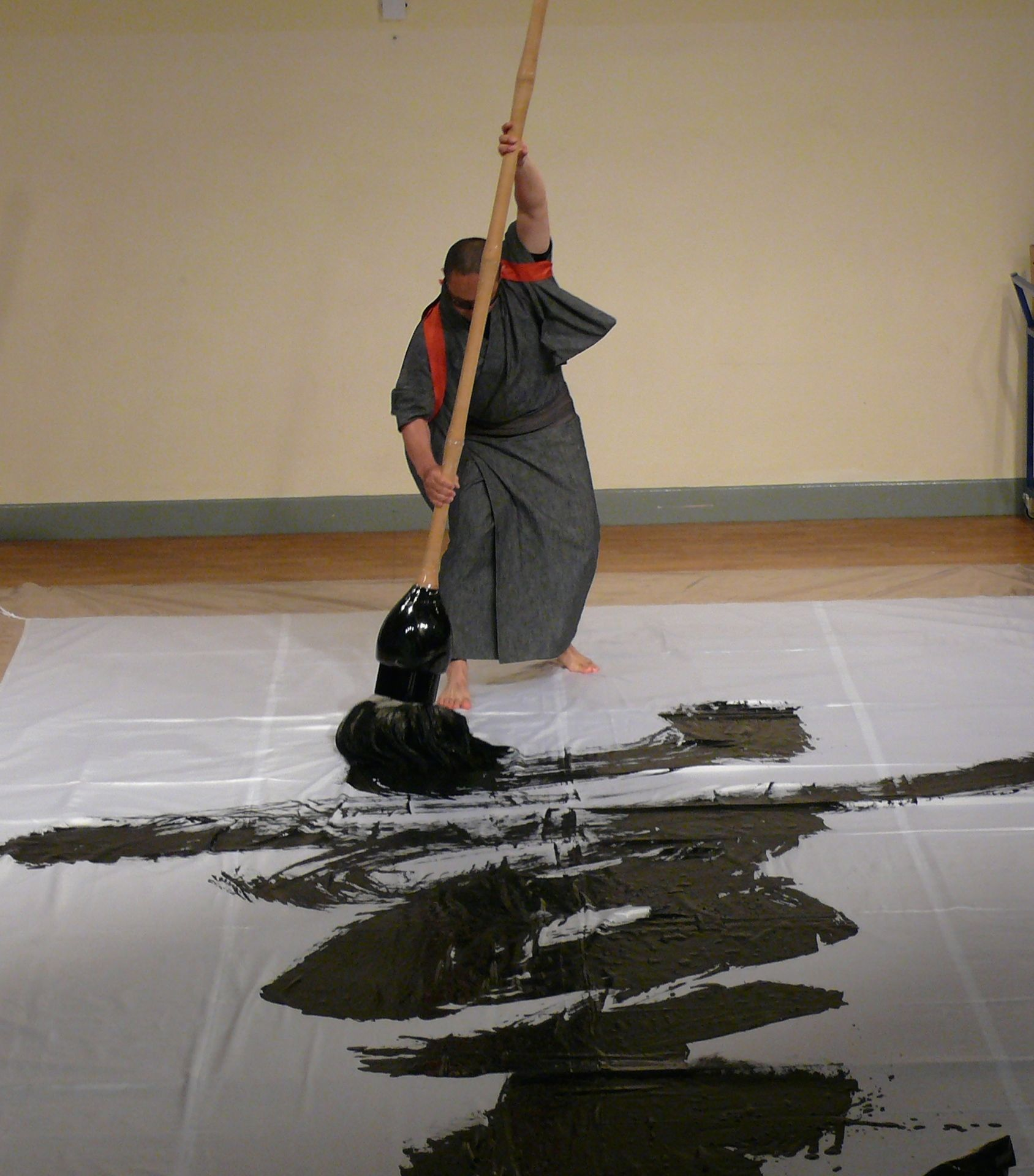 Japanese calligraphy demonstration